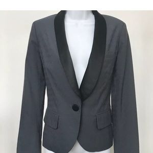 Mark Jacobs Tux Style Jacket Blazer Grey  Size 6